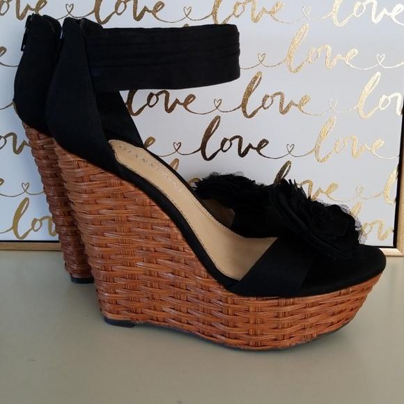 fd6a397f4b33 Gianni Bini Shoes - Black ankle strap platform wedge sandal